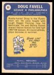 1969 Topps #88  Doug Favell  Back Thumbnail