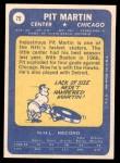 1969 Topps #75  Pit Martin  Back Thumbnail