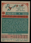 1973 Topps #91  Fred Boyd  Back Thumbnail