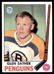1969 Topps #116  Glen Sather  Front Thumbnail