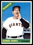 1966 Topps #537  Herman Franks  Front Thumbnail