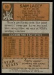 1978 Topps #99  Sam Lacey  Back Thumbnail