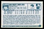 1977 Kellogg's #7  John Candelaria  Back Thumbnail