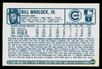 1977 Kellogg's #43  Bill Madlock  Back Thumbnail