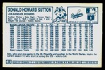1978 Kellogg's #57  Don Sutton  Back Thumbnail