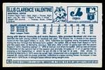 1978 Kellogg's #19  Ellis Valentine  Back Thumbnail