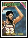 1975 Topps #90  Kareem Abdul-Jabbar  Front Thumbnail