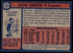 1974 Topps #169  Don Smith  Back Thumbnail
