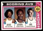 1974 Topps #207   -  Julius Erving / Dan Issel / George McGinnis ABA Scoring Average Leaders Front Thumbnail