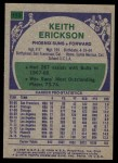 1975 Topps #113  Keith Erickson  Back Thumbnail