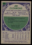 1975 Topps #137  Jim Cleamons  Back Thumbnail