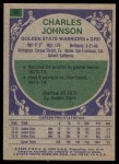 1975 Topps #86  Charles Johnson  Back Thumbnail