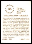 1976 SSPC #299  Greg Terlecky  Back Thumbnail