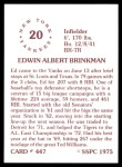 1976 SSPC #447  Ed Brinkman  Back Thumbnail