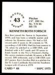 1976 SSPC #48  Ken Forsch  Back Thumbnail