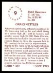 1976 SSPC #437  Graig Nettles  Back Thumbnail