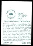 1976 SSPC #600  Mel Thomason  Back Thumbnail