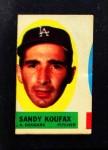 1963 Topps Peel-Offs  Sandy Koufax  Front Thumbnail