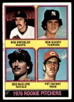 1976 Topps #599   -  Ron Guidry / Rob Dressler / Bob McClure / Pat Zachry Rookie Pitchers  Front Thumbnail