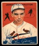1934 World Wide Gum #90  James (Tex) Carleton  Front Thumbnail