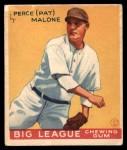 1934 World Wide Gum #30  Perce (Pat) Malone  Front Thumbnail