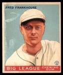 1934 World Wide Gum #19  Fred Frankhouse  Front Thumbnail