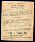 1934 World Wide Gum #2  Eddie Morgan  Back Thumbnail