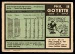 1971 O-Pee-Chee #88  Phil Goyette  Back Thumbnail