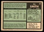 1971 O-Pee-Chee #27  Al Smith  Back Thumbnail