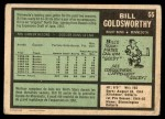1971 O-Pee-Chee #55  Bill Goldsworthy  Back Thumbnail