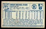 1979 Kellogg's #41  Dwight Evans  Back Thumbnail
