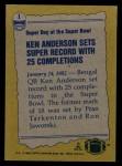 1982 Topps #1   -  Ken Anderson Record Breaker Back Thumbnail