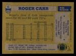 1982 Topps #12  Roger Carr  Back Thumbnail