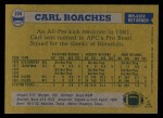 1982 Topps #104  Carl Roaches  Back Thumbnail