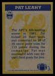 1982 Topps #174   -  Pat Leahy In Action Back Thumbnail