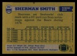 1982 Topps #252  Sherman Smith  Back Thumbnail