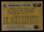 1982 Topps #385  Wendell Tyler  Back Thumbnail