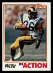 1982 Topps #386   -  Wendell Tyler In Action Front Thumbnail