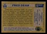1982 Topps #483  Fred Dean  Back Thumbnail