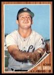 1962 Topps #548  Bobby Del Greco  Front Thumbnail