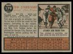 1962 Topps #179 NRM Tom Sturdivant  Back Thumbnail