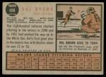1962 Topps #488  Hal Brown  Back Thumbnail