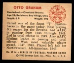 1950 Bowman #45  Otto Graham  Back Thumbnail