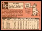 1969 Topps #120  Pete Rose  Back Thumbnail