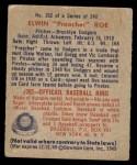 1949 Bowman #162  Preacher Roe  Back Thumbnail