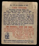 1949 Bowman #175  Luke Appling  Back Thumbnail