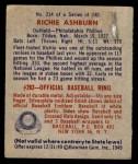1949 Bowman #214  Richie Ashburn  Back Thumbnail