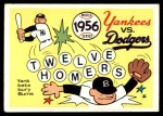 1970 Fleer World Series #53   1956 Yankees vs. Dodgers Front Thumbnail