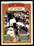 1972 Topps #556   -  Ron Santo In Action Front Thumbnail
