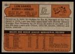 1972 Topps #484  Lum Harris  Back Thumbnail